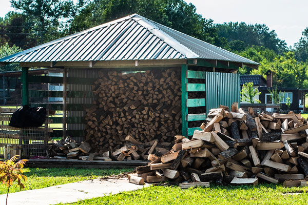skladovanie dreva